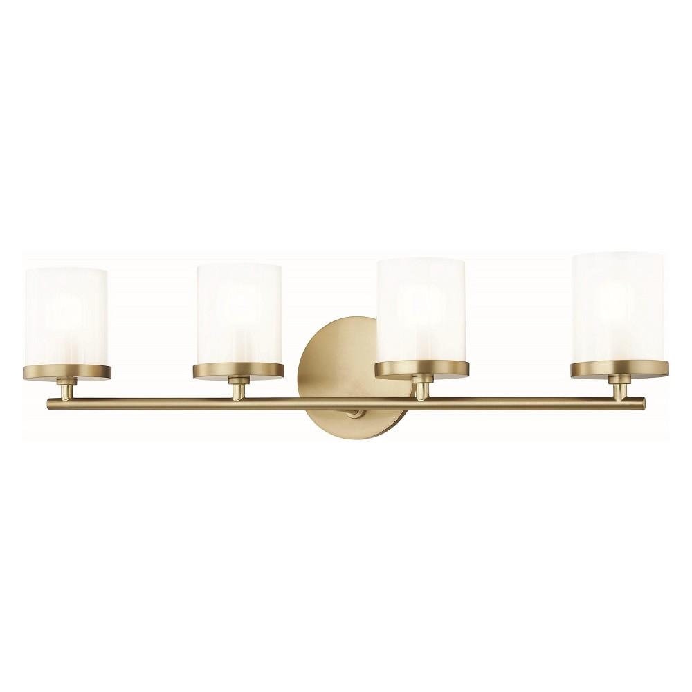 4pc Ryan Bath Light Brass - Mitzi by Hudson Valley