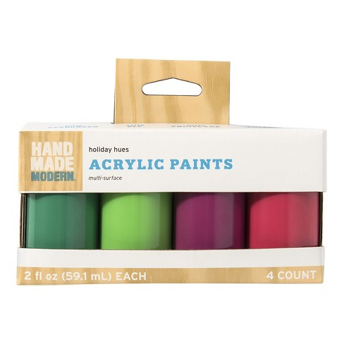 Hand Made Modern - 2oz Satin Acrylic Paint Set - Muted Holiday - image 1 of 3