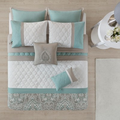 8pc Stacie Comforter Set Blue