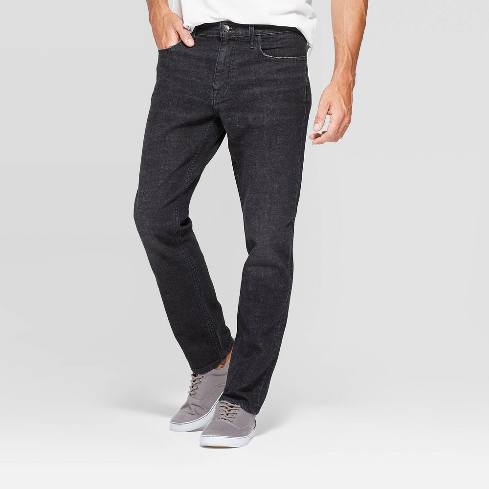 Men's 32 Athletic Fit Relaxed Jeans - Goodfellow & Co Black 42x32