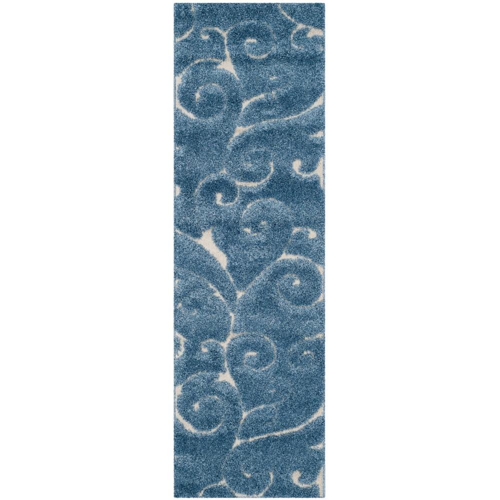 2 39 3 34 X9 39 Runner Swirl Loomed Rug Light Blue Cream Safavieh