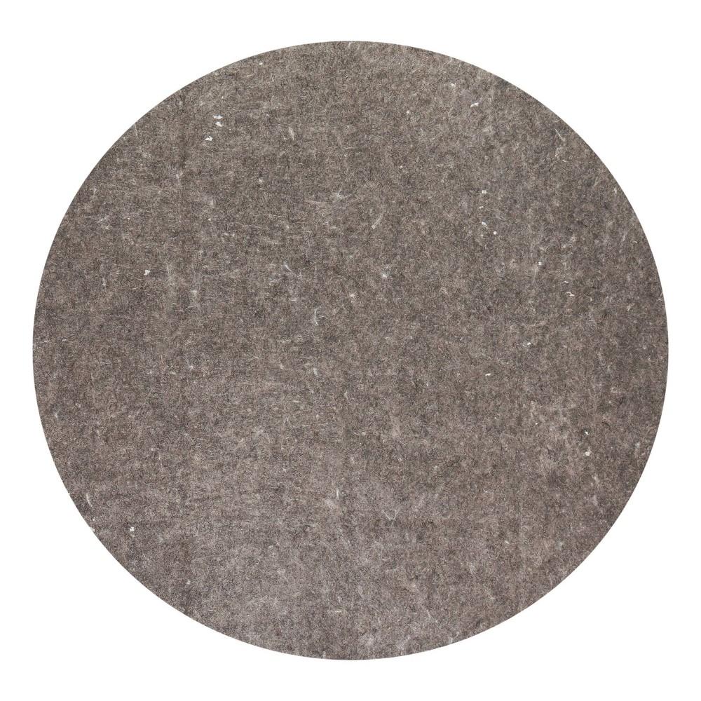 Image of 4' Round Premium Surface Rug Pad Gray - Anji Mountain