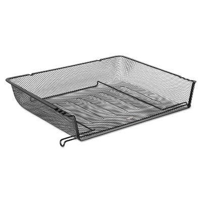 Rolodex Nestable Letter Sized Wire Mesh Stacking Side Load Tray - Black