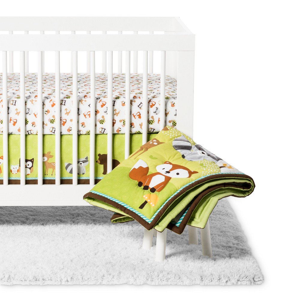 Image of Bedtime Originals Crib Bedding Set Friendly Forest 3pc