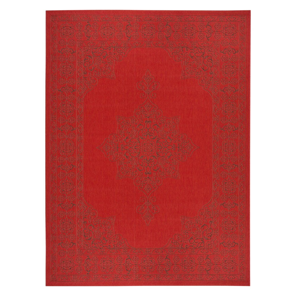 9'x12' Starling Outdoor Rug Red/Dark Brown - Safavieh, Red Brown