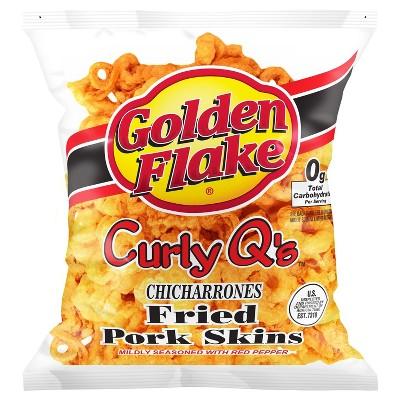 Golden Flake Curly Q's Fried Pork Skins - 3oz