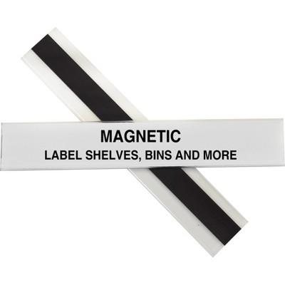"C-Line Label Holder Magnetic f/ Shelf/Bin 1""x6"" 10/BX Clear 87227"