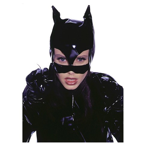 Kitty Leather like Costume Mask - One Size Fits Most - image 1 of 1