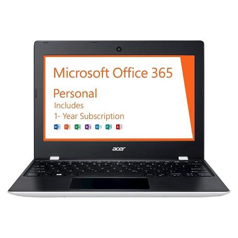 "Acer Aspire One 11, 11.6"" HD, Intel Celeron N3060, 2GB RAM, 32GB, Windows 10, Office 365 Personal - 1 year (AO1-132-C3T3) - image 1 of 4"