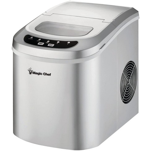 Magic Chef MCIM22SV Portable Home Countertop Ice Maker with Settings Display, 27 Pounds Per Day, Silver - image 1 of 3
