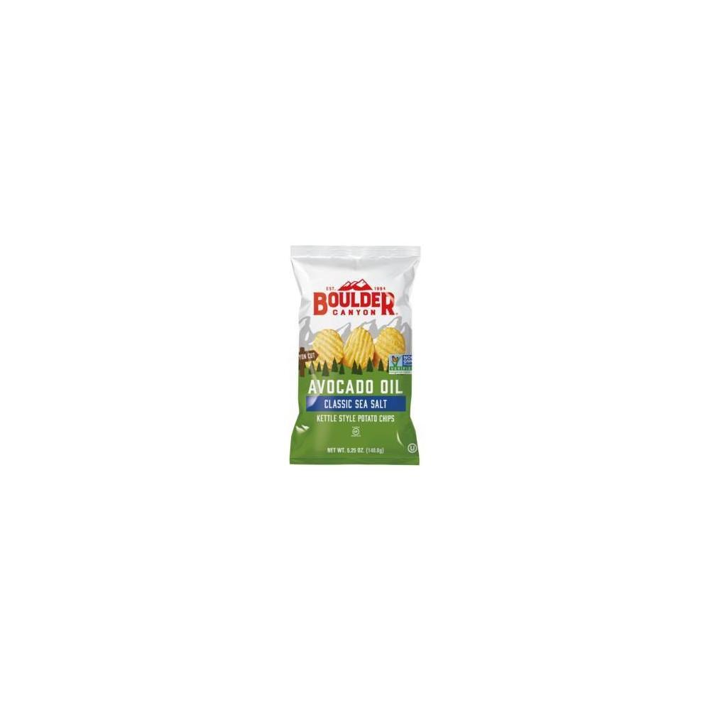 Boulder Canyon Avocado Oil Sea Salt Kettle Style Potato Chips 5 25oz 12pk
