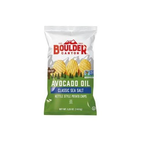 Boulder Canyon Avocado Oil Sea Salt Kettle Style Potato Chips - 5.25oz/12pk - image 1 of 4