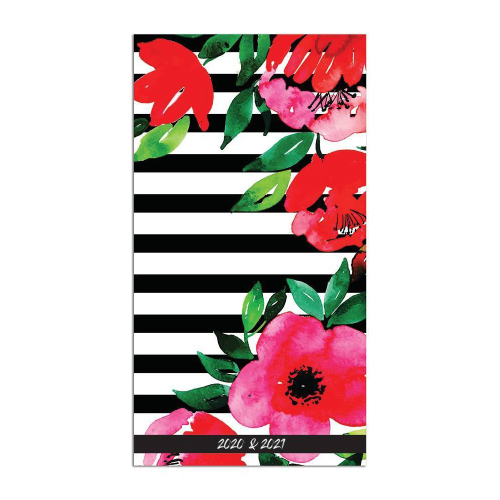 """Image of """"2020-21 2yr Planner 6.5"""""""" x 3.5"""""""" Classic Floral Stripe"""""""