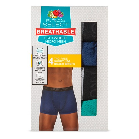 Fruit Of The Loom® Men s 4pk Breathable Micro-Mesh Shorts Leg Boxer Briefs  - Turquoise Gray   Target d2174711b520