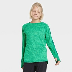 Boys' Long Sleeve Colorblock Soft Gym T-Shirt - All in Motion™