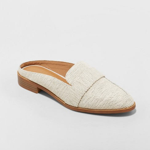 Women's Amber Wide Width Backless Loafer Mules - Universal Thread™ - image 1 of 4