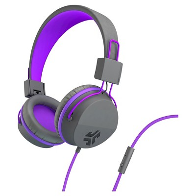JLab JBuddies Studio Wired Kids Headphone - Gray/Purple