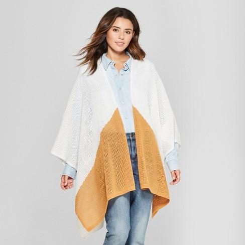 94c1b9013 Women s Open Knit Duster Poncho Sweater - Universal Thread™ White ...