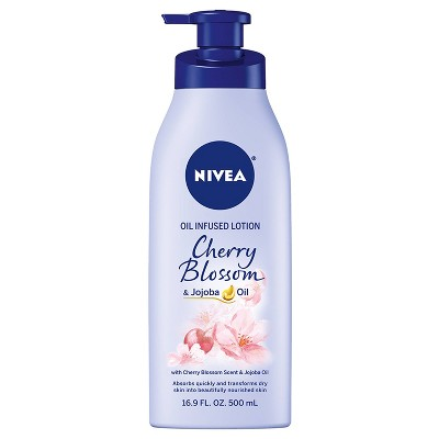 NIVEA Cherry Blossom and Jojoba Oil Infused Body Lotion - 16.9 fl oz