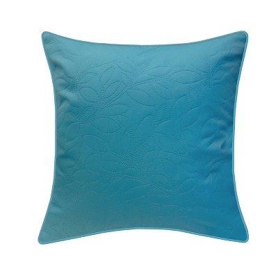 "17"" x 17"" Quilted Petal Decorative Patio Throw Pillow Aqua - Edie@Home"