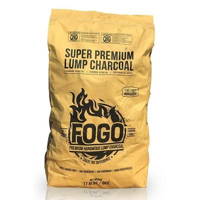 FOGO Super Premium Oak Restaurant All-Natural Hardwood Lump Charcoal, 17.6 Lbs