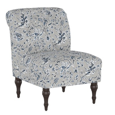 Wales Accent Chair Indian Blockprint Gray - Threshold™