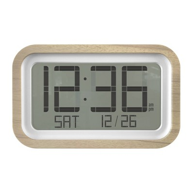 Digital Wall Clock with Rounded Corner Frame White - Project 62™