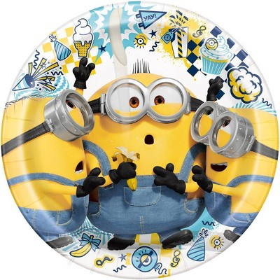 """Despicable Me Minions 9"""" 8ct Party Plates"""