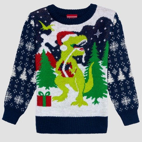 Well Worn Toddler Boys Ugly Holiday Sweater Navy Target