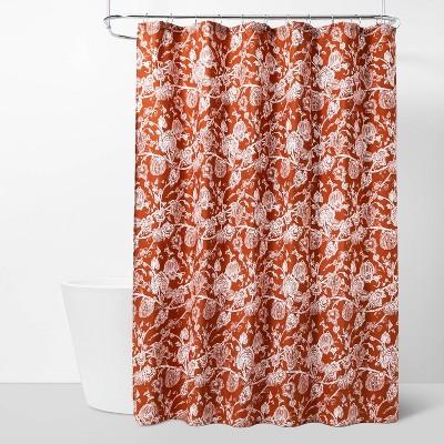 Pumpkin Patch Shower Curtain Orange - Threshold™