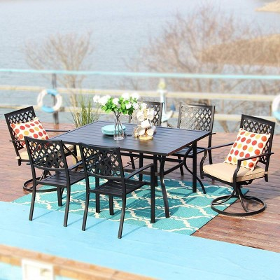 7pc Outdoor Dining Set With 37 Table, Outdoor Furniture St Louis