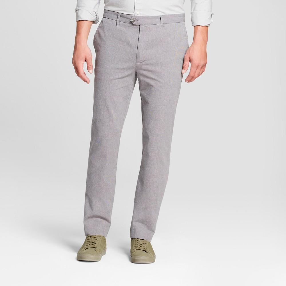 Men's Printed Straight Fit Lightweight Trouser - Goodfellow & Co Gray Herringbone 36x32