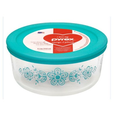 Pyrex Decorated Food storage container