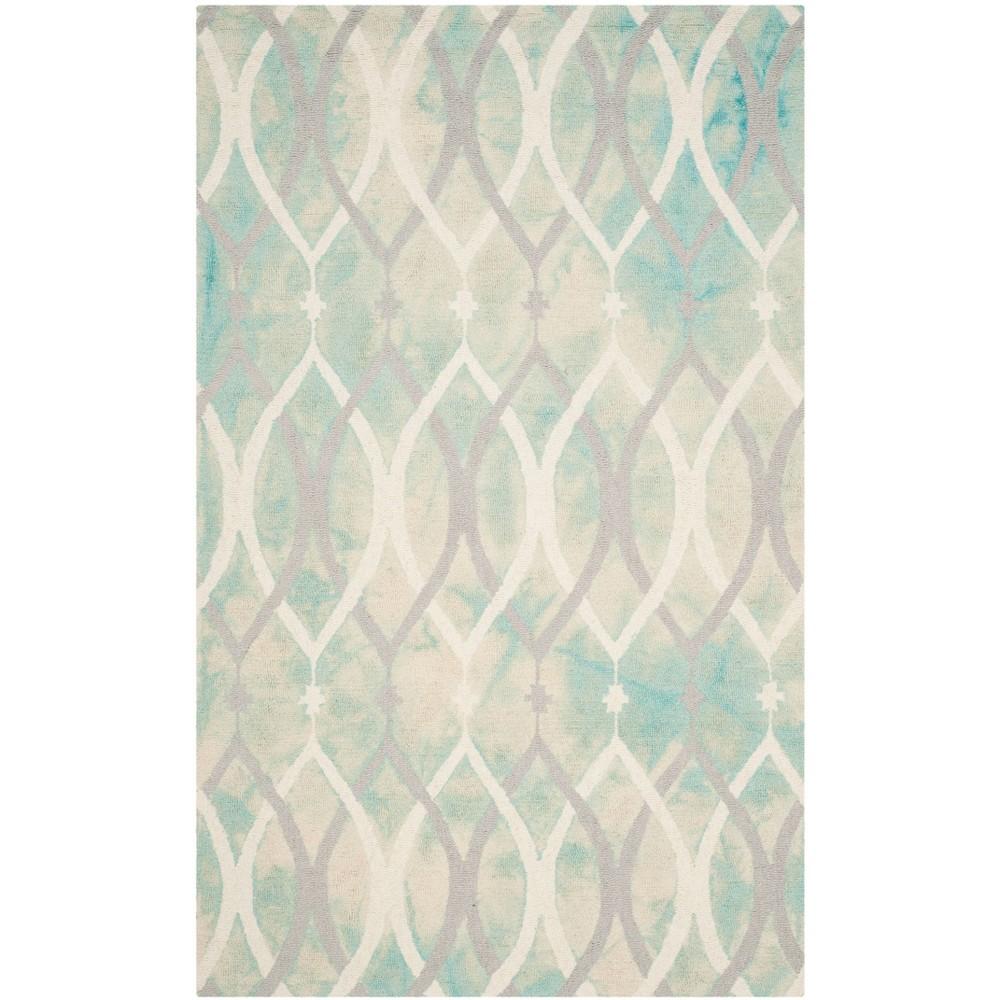 Garret Area Rug - Green/Ivory Gray (5'x8') - Safavieh