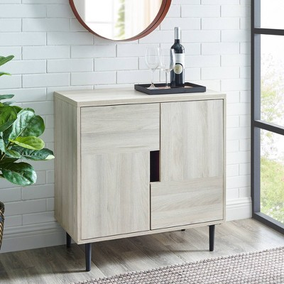Francis Modern Color Pop Accent Cabinet Birch/Magenta Interior - Saracina Home