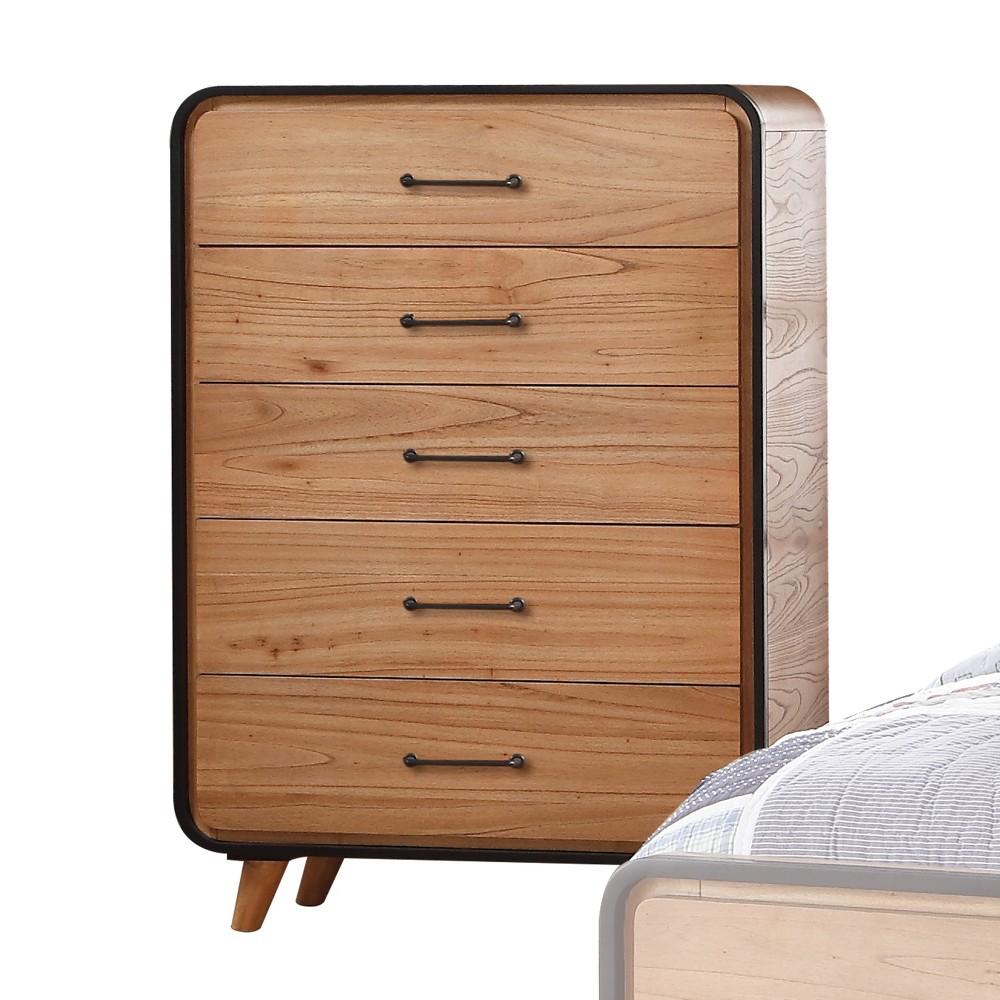 Acme Furniture Carla Chest Oak Brown/Black Acme Furniture Carla Chest Oak Brown/Black