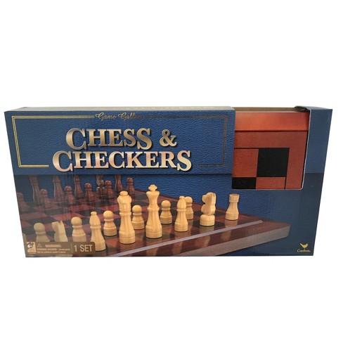 Game Gallery Chess & Checkers Wood Set - image 1 of 4