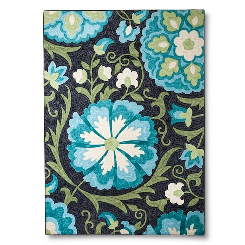 Maples Rugs Floral Area Rug - Blue - image 1 of 2