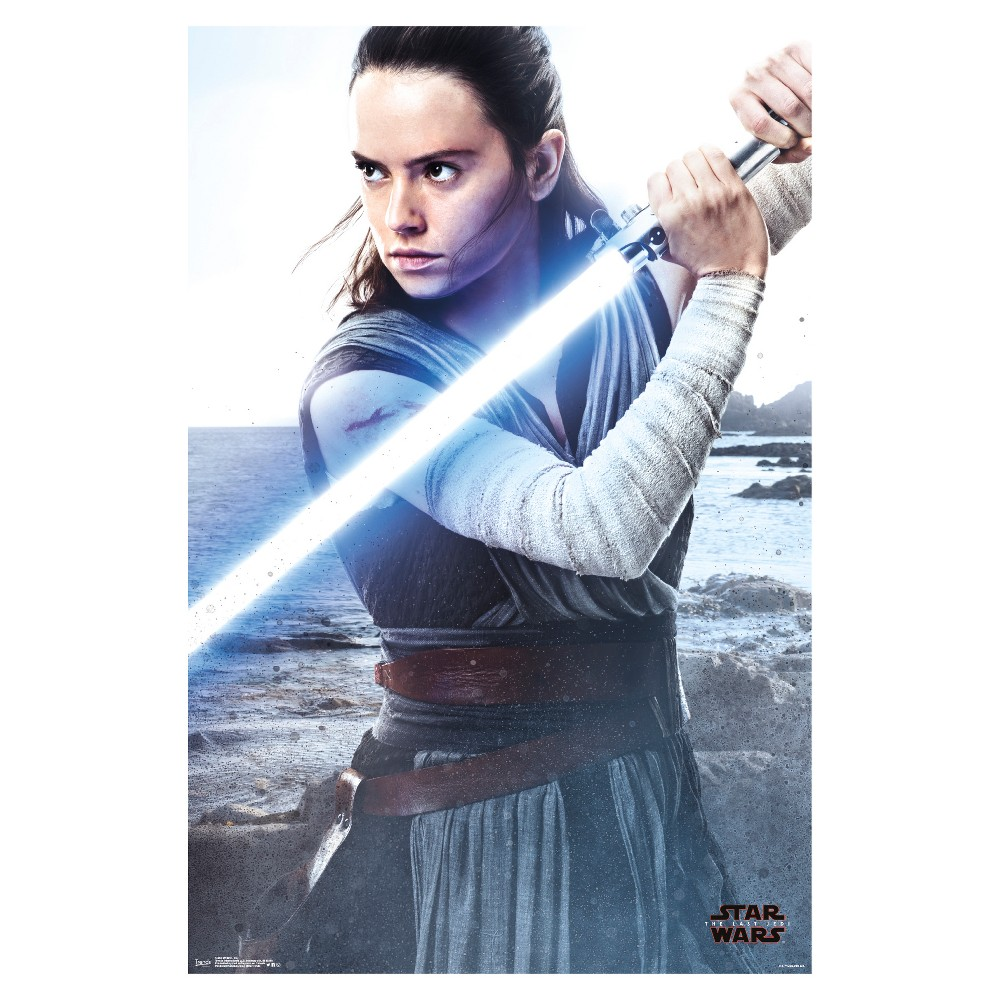 Star Wars The Last Jedi Rey Poster 34x22 - Trends International, Multi-Colored