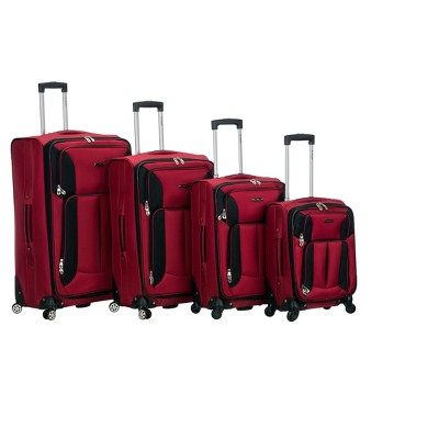 Rockland Impact 4pc Spinner Luggage Set - Red