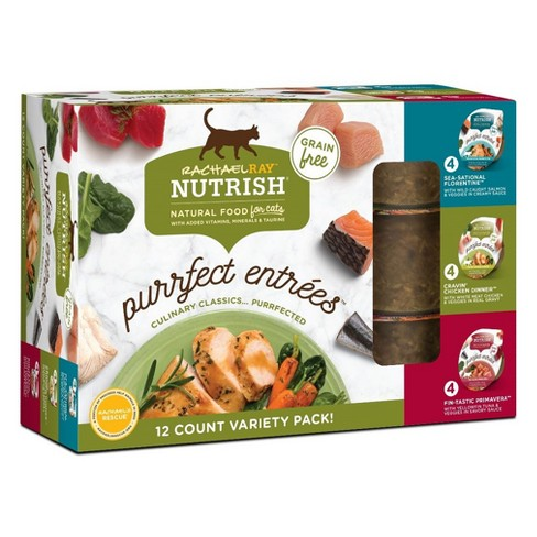 Rachael Ray Nutrish Natural Purrfect Entrees Variety Pack Wet Cat Food - 12ct - image 1 of 2
