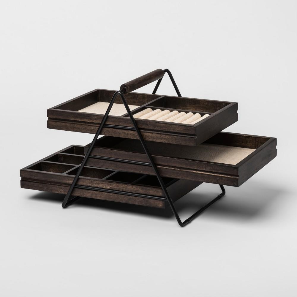 Image of Terrace Jewelry Storage Box Black/Walnut - Umbra, Women's, Size: Small