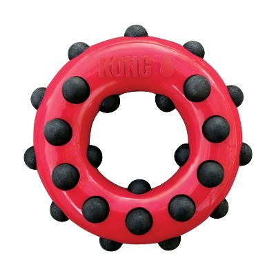 KONG Dotz Circle Interactive Dog Toy - Red - L