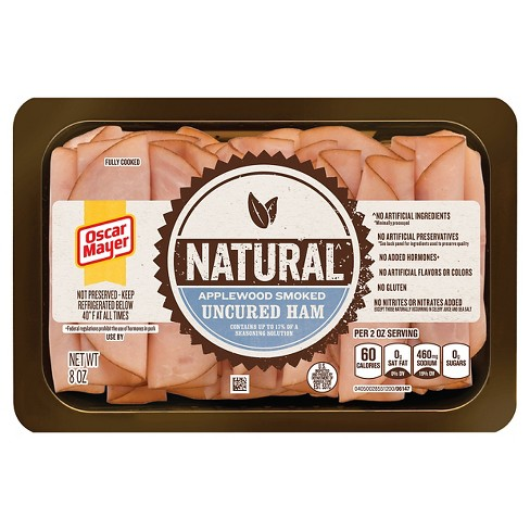 Oscar Mayer Natural Applewood Smoked Uncured Ham -8oz - image 1 of 1