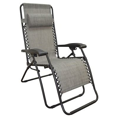 Caravan Patio Folding Chair 18.5  - Gray