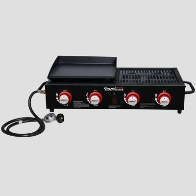 Royal Gourmet Tailgate 4-Burner Gas Griddle Combo Grill GD4002T Black