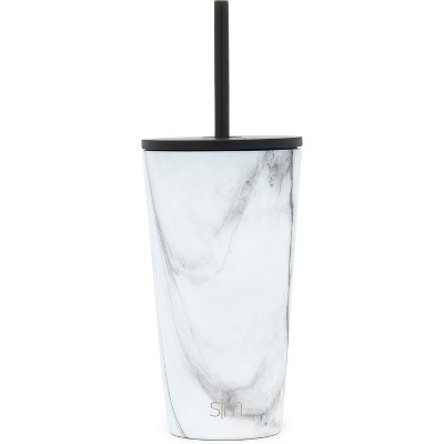 Simple Modern 16oz Stainless Steel Straw Tumbler Marble