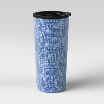 19oz Stainless Steel Vacuum Coffee Tumbler with Slide Lid Crayon Texture - Room Essentials™