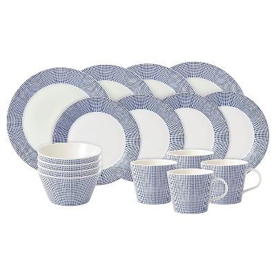 Royal Doulton® Pacific Porcelain 16pc Dinnerware Set White Dots