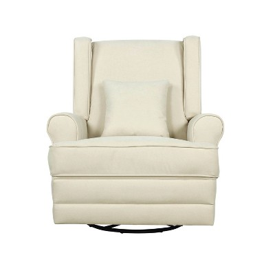 Evolur Phoniex Upholstered Wingback Power Recliner in Shell